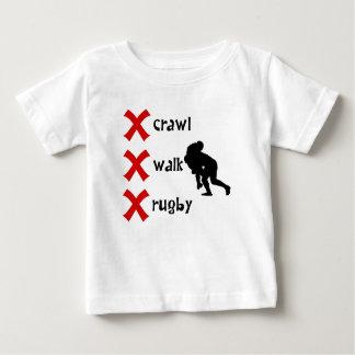 Crawl Walk Rugby Baby T-Shirt