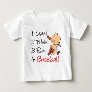 Crawl Walk Run Baseball Baby T-Shirt