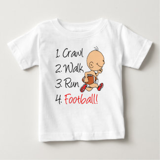Crawl Walk Run Football Baby T-Shirt