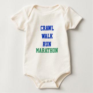Crawl, Walk, Run, MARATHON Baby Bodysuit