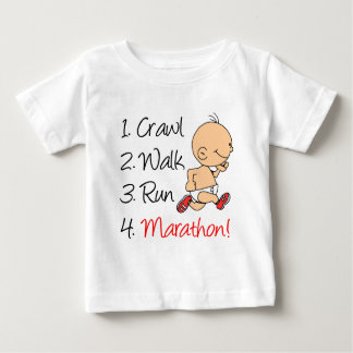 Crawl Walk Run Marathon Baby T-Shirt