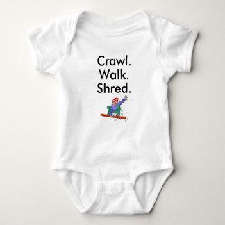 Crawl Walk Shred Snowboard Baby Bodysuit