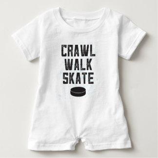 CRAWL WALK SKATE ice hockey baby romper gift Baby Bodysuit