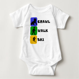 Crawl Walk Ski Baby Bodysuit