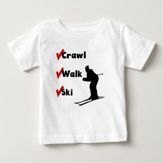 Crawl Walk Ski Baby T-Shirt