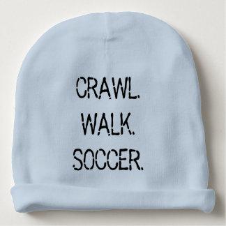 Crawl Walk Soccer Baby Beanie