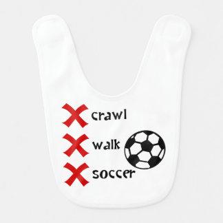 Crawl Walk Soccer Baby Bibs