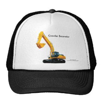 Crawler Excavator image for Trucker-Hat Cap