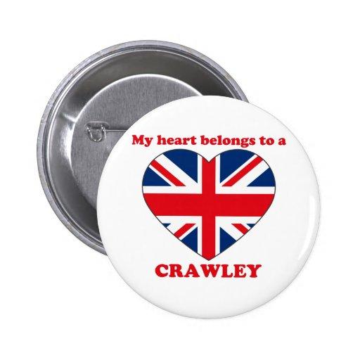 Crawley Pinback Button