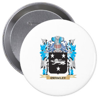 Crawley Coat of Arms - Family Crest Pinback Button