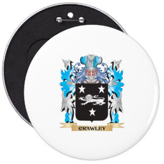 Crawley Coat of Arms - Family Crest Pinback Buttons