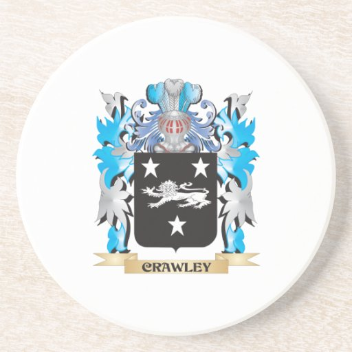 Crawley Coat of Arms - Family Crest Drink Coaster