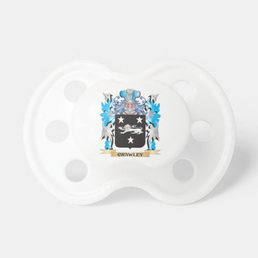 Crawley Coat of Arms - Family Crest Pacifier