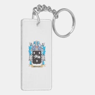 Crawley Coat of Arms - Family Crest Double-Sided Rectangular Acrylic Key Ring
