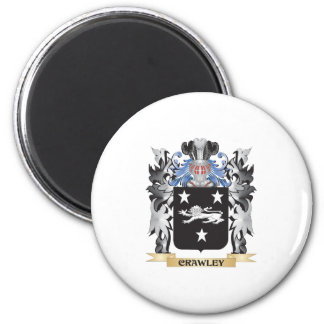 Crawley Coat of Arms - Family Crest 6 Cm Round Magnet