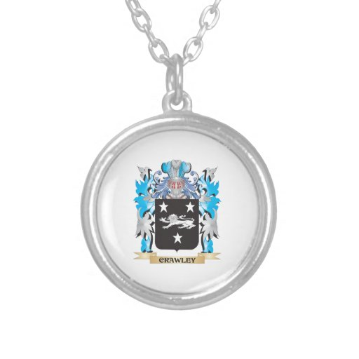 Crawley Coat of Arms - Family Crest Necklaces