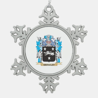 Crawley Coat of Arms - Family Crest Pewter Snowflake Decoration