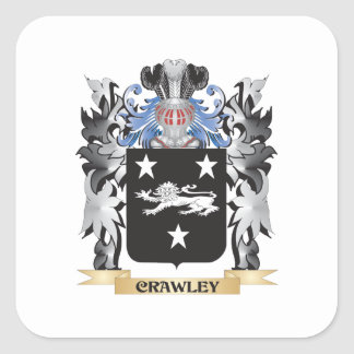 Crawley Coat of Arms - Family Crest Square Sticker