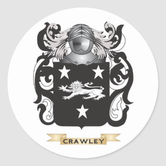 Crawley Coat of Arms Round Sticker