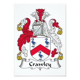 Crawley Family Crest 13 Cm X 18 Cm Invitation Card