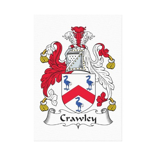 Crawley Family Crest Stretched Canvas Print