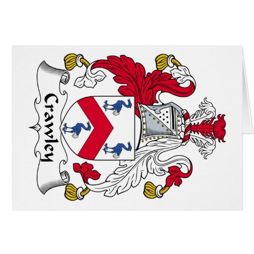 Crawley Family Crest Greeting Card