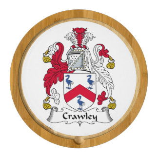 Crawley Family Crest Round Cheese Board