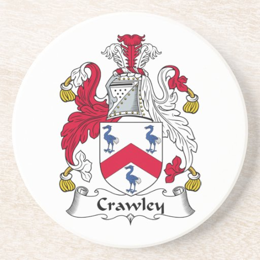 Crawley Family Crest Drink Coaster