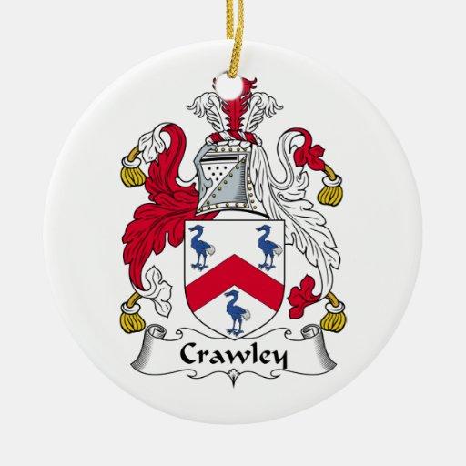 Crawley Family Crest Christmas Tree Ornament