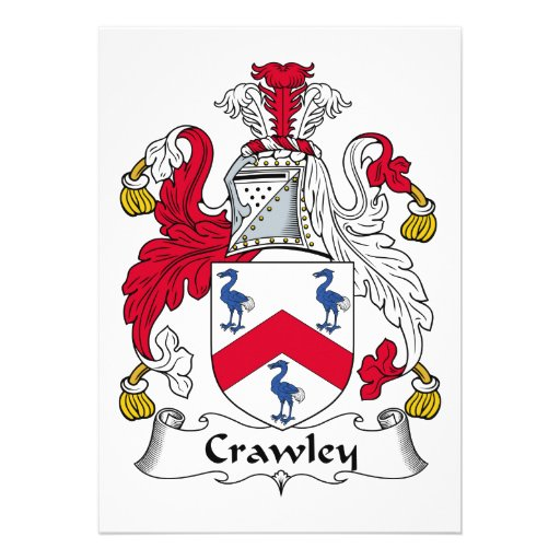 Crawley Family Crest Invitations