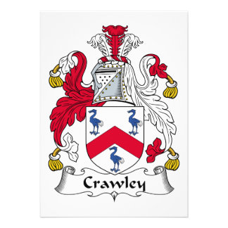 Crawley Family Crest Invitations
