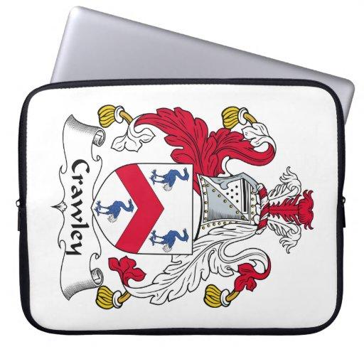 Crawley Family Crest Laptop Sleeves