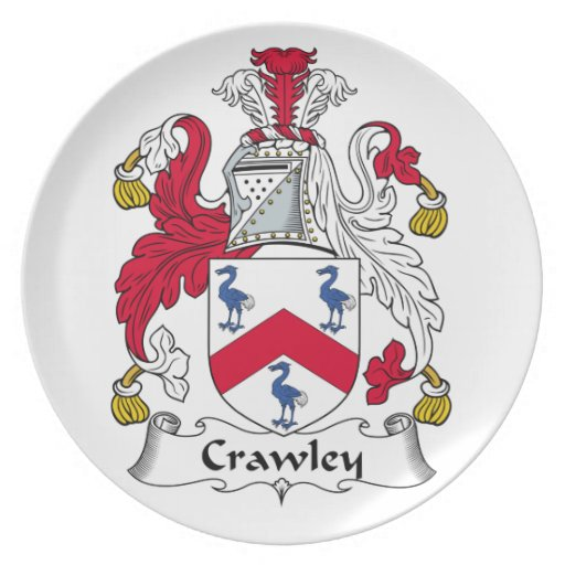 Crawley Family Crest Party Plates
