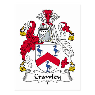 Crawley Family Crest Postcard