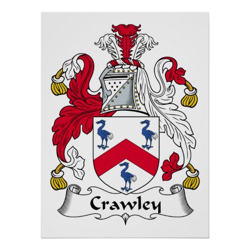 Crawley Family Crest Print