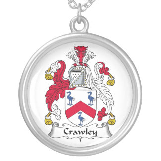Crawley Family Crest Round Pendant Necklace