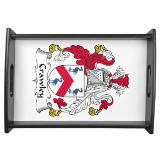 Crawley Family Crest Service Trays