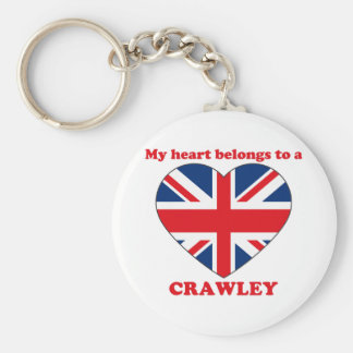 Crawley Basic Round Button Key Ring