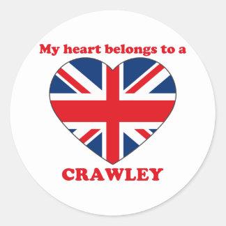 Crawley Round Sticker