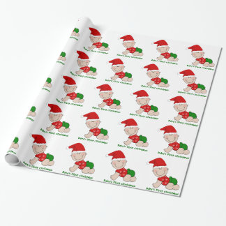 Crawling Baby Baby's First Christmas Wrapping Paper