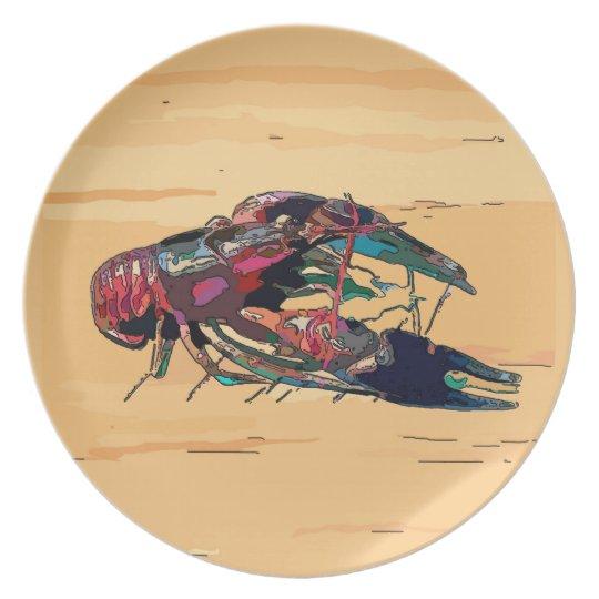Crayfish Crawfish Wood Look Sign Plate