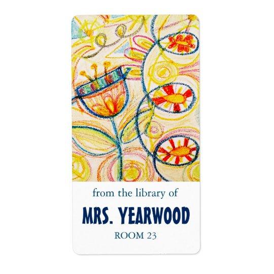 Crayon Art Bookplates Shipping Label