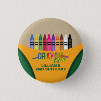 Crayon Coloring Party 3 Cm Round Badge