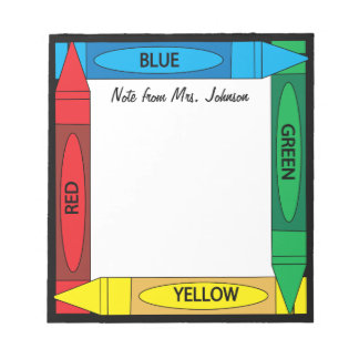 Crayon Colors Notepad