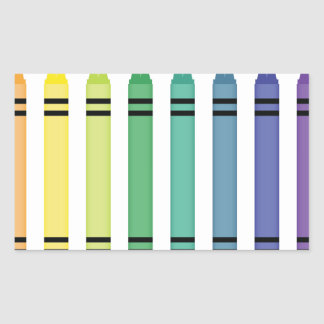 Crayon Colors Rectangular Sticker