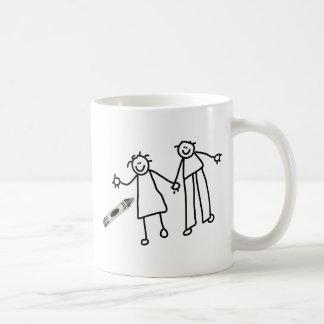 Crayon Couple Basic White Mug