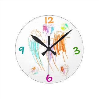 Crayon Drawing Clock