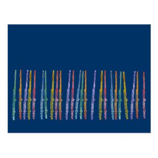 Crayon Flutes Postcard