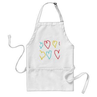 Crayon Hearts Standard Apron