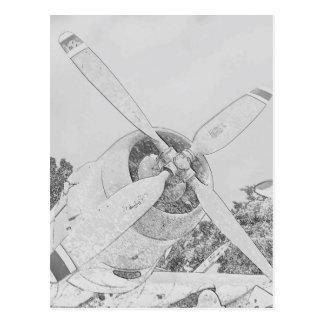 Crayon-plane Postcard